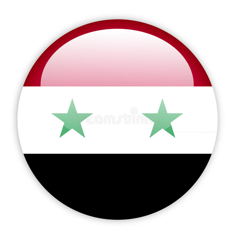 Download Syria flag button stock vector. Image of clip, cross - 27259921