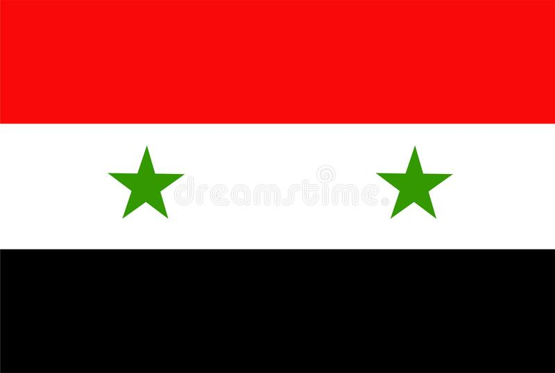 Syria flag vector. Illustration of Syria flag vector illustration