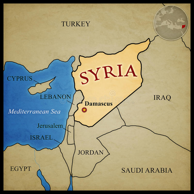 Syria Map stock illustration Illustration of illustration 52563753