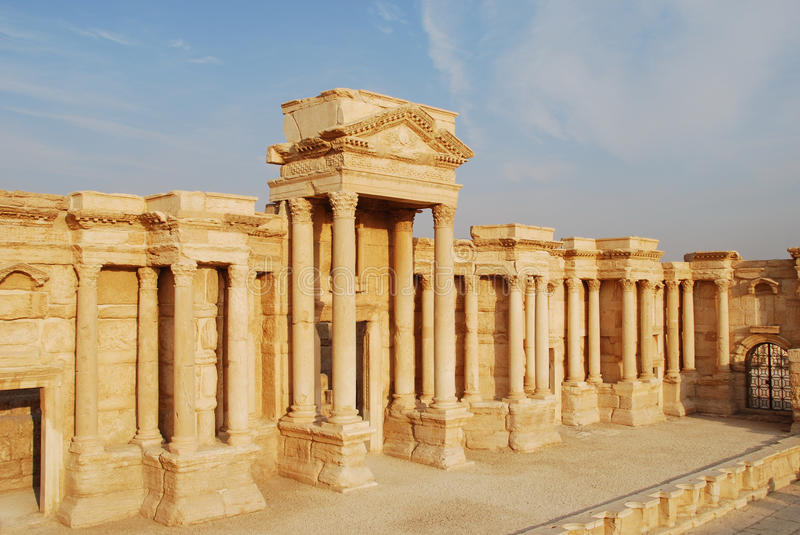 Download Syria, Palmyra. stock image. Image of sandstone, architecture - 13612387