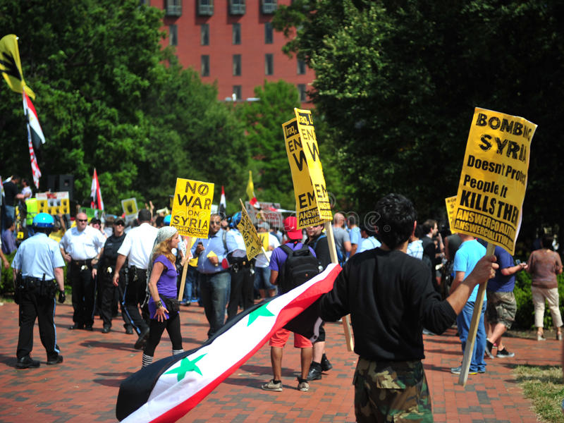 Download Syria Protests At White House Editorial Image - Image: 33423955