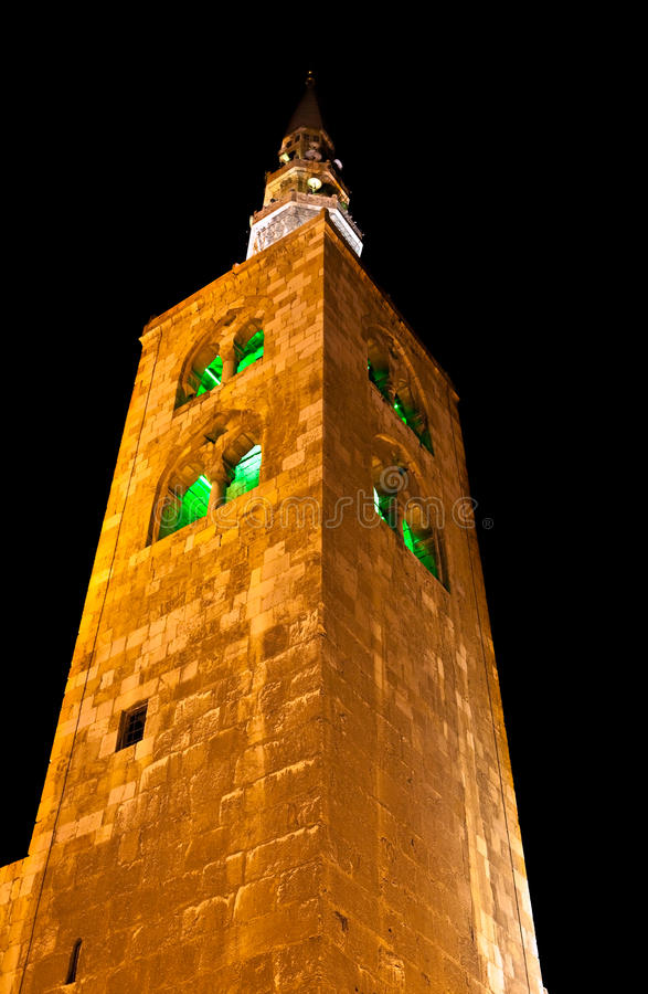 Syria - The Umayyad Mosque tower in Damascus royalty free stock photo