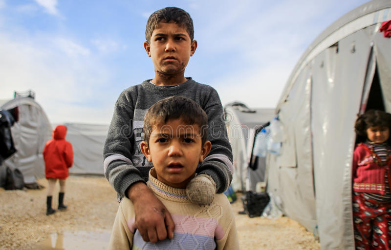 Syria: Victims of ISIS attack stock photography