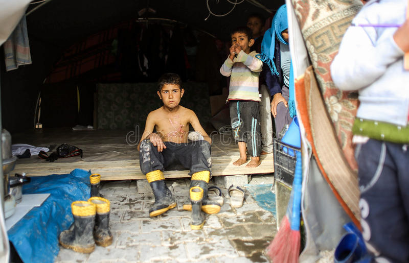 Syria: Victims of ISIS attack stock images