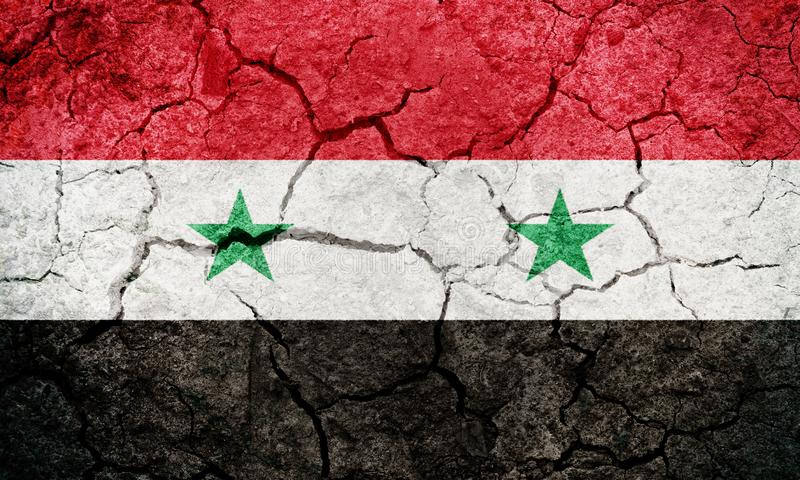 Syrian Arab Republic flag stock illustration