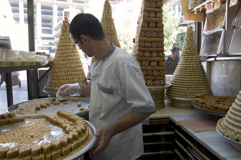 Download Syrian Baker editorial photo. Image of syria, display - 18180201