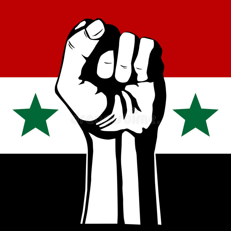 The Syrian flag. stock illustration