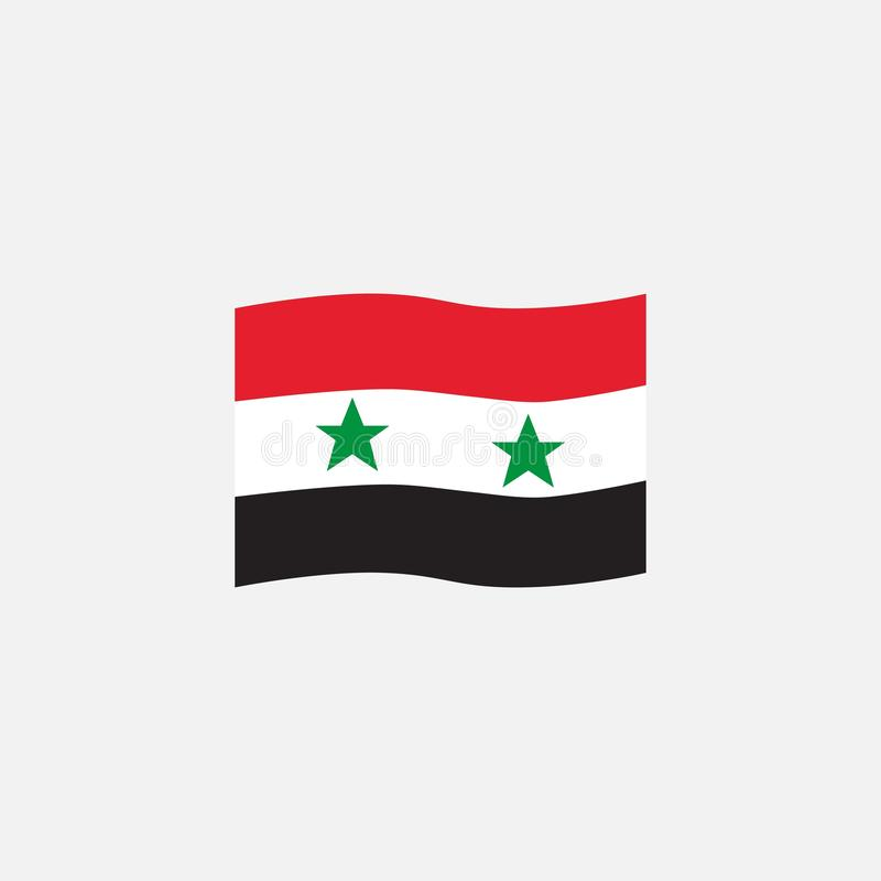 Syrian flag colors flat icon royalty free illustration