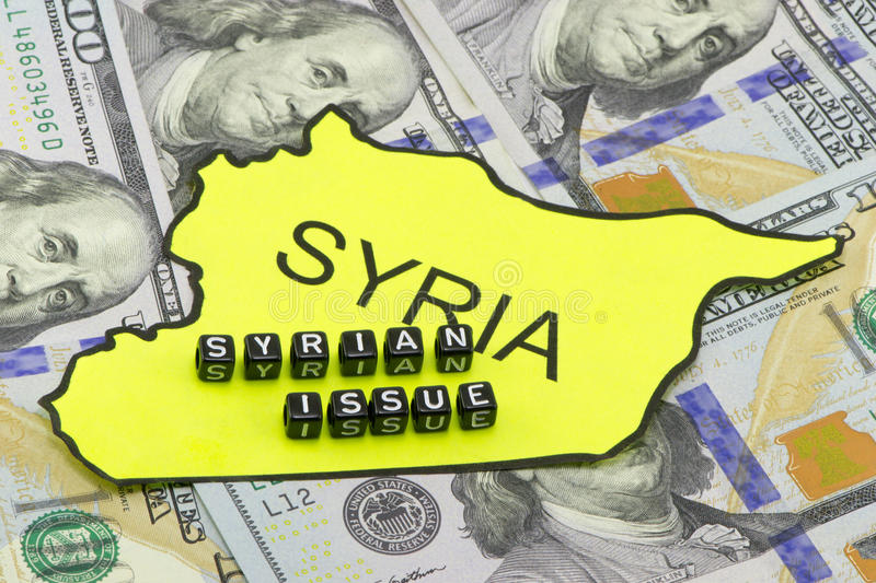 The Syrian issue. As a concept stock image