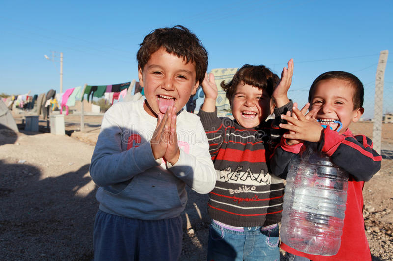 SYRIAN REFUGEES IN SURUC, TURKEY. royalty free stock images
