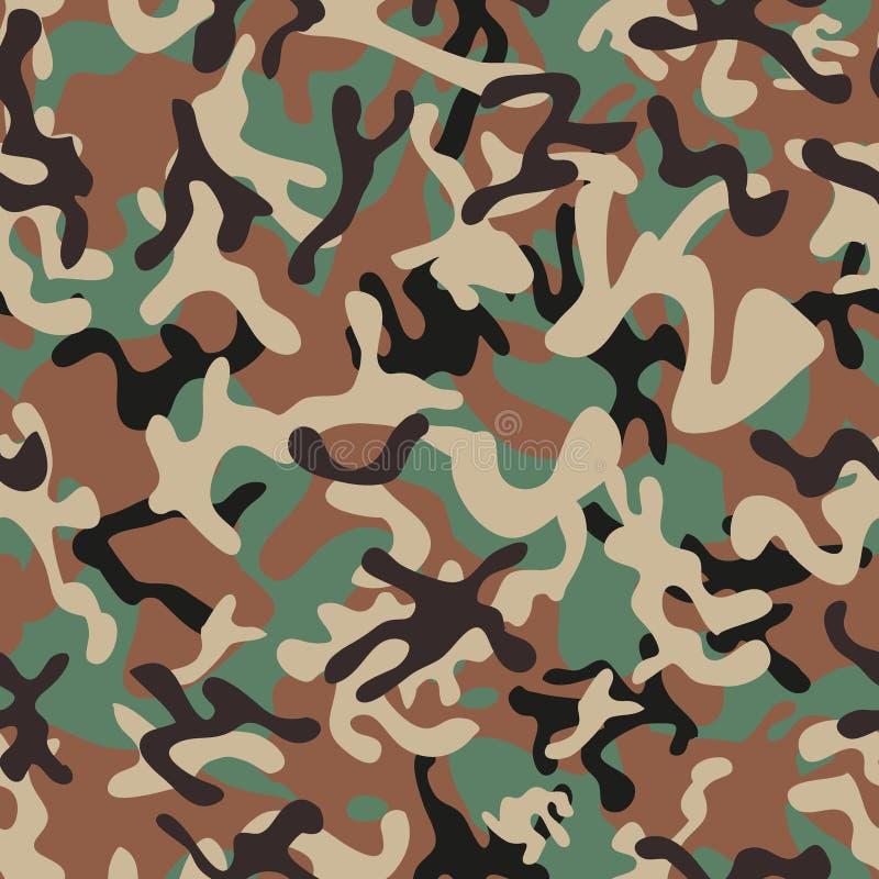 Syrian Woodland Camouflage seamless patterns stock illustration