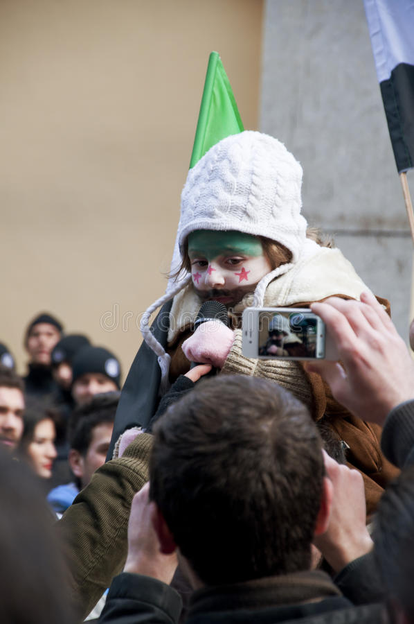 Download Syrians Protesting editorial stock photo. Image of outside - 23227843