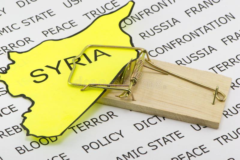 Syriansk fälla royaltyfria foton