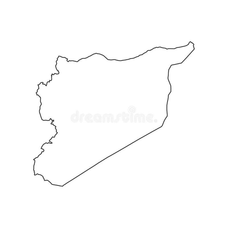 Syrien översiktskontur vektor illustrationer