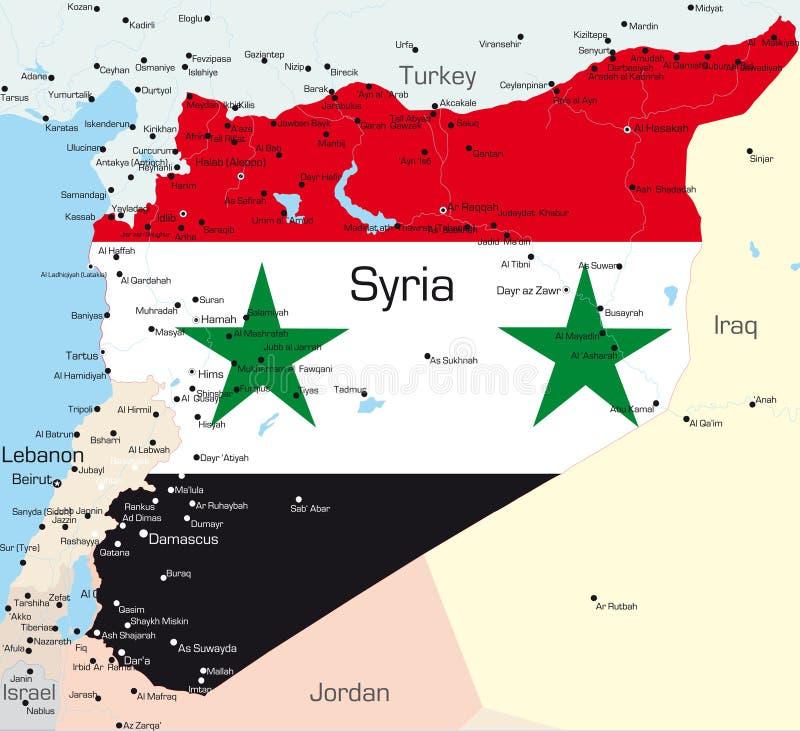 Syrien vektor abbildung