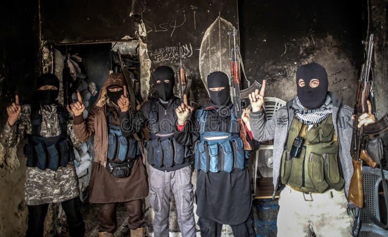 Syrien: El Kaida in Aleppo stockfotografie