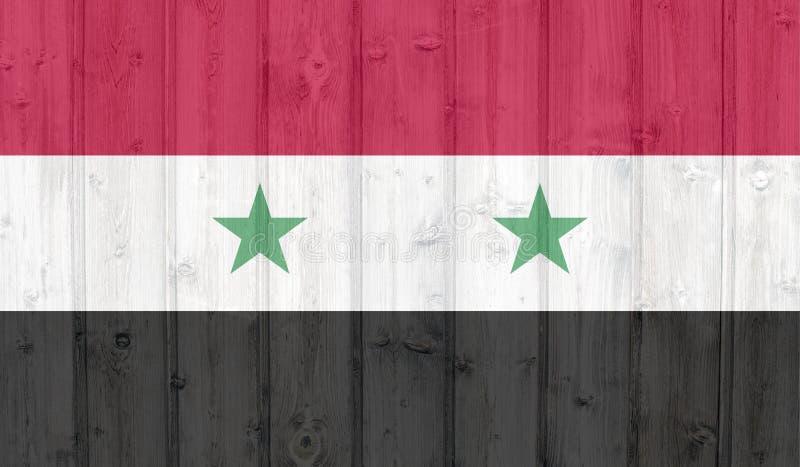 Syrien flagga stock illustrationer