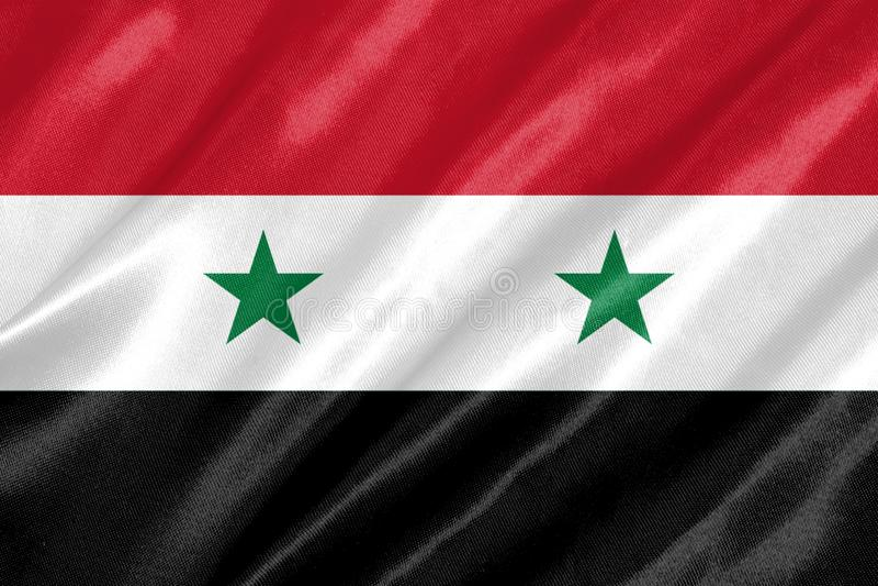 Syrien-Flagge stock abbildung