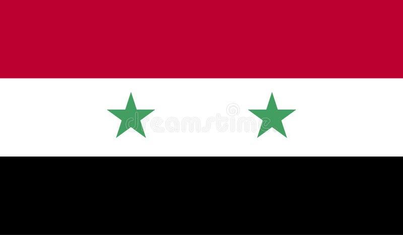 Syrien-Flaggenbild stock abbildung