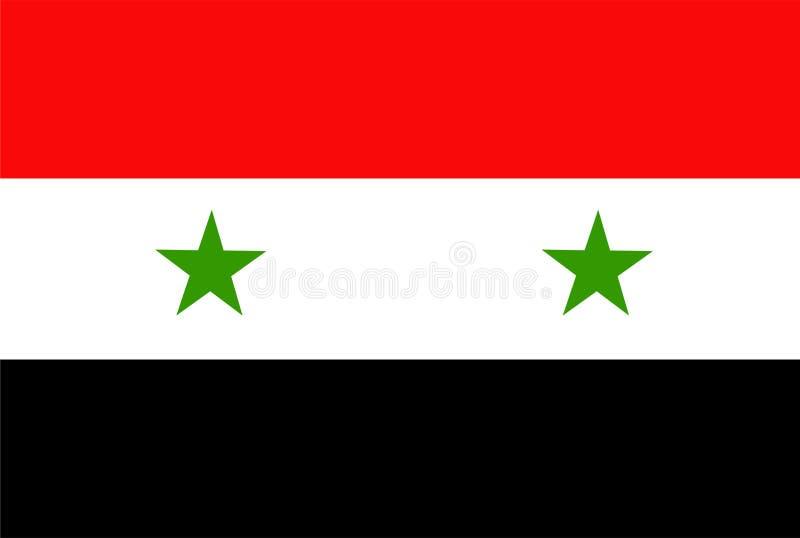 Syrien-Flaggenvektor Illustration von Syrien-Flagge vektor abbildung