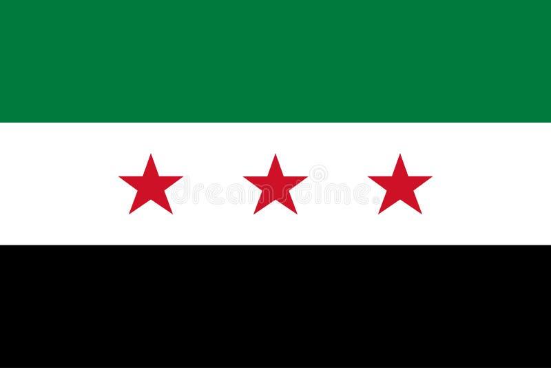 Syrien opposition Provisoriska regeringenflagga av syriansk nationell förening Officiella färger Korrigera proportionen vektor vektor illustrationer