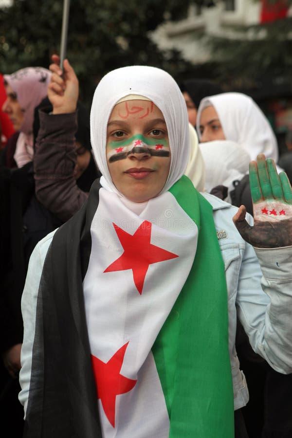 Syrien-Protest stockfotos