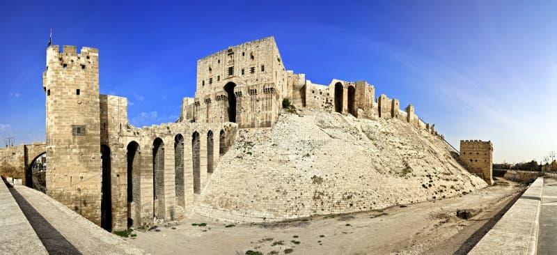 Syrii, Aleppo cytadela - obraz stock