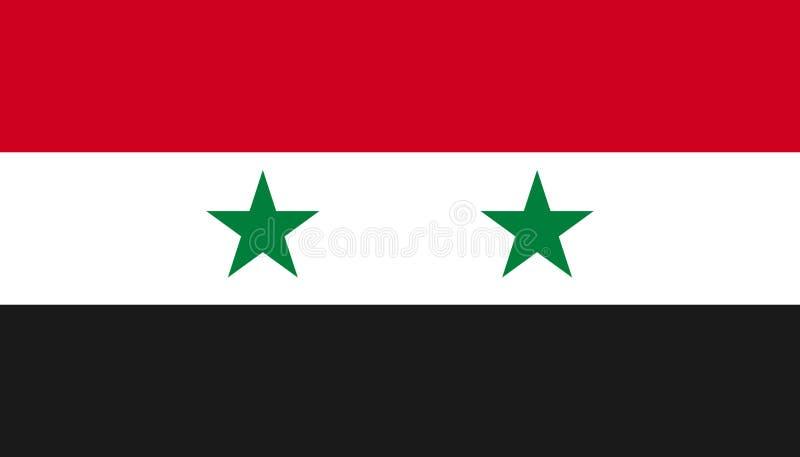 Syrii flagi ikona w mieszkanie stylu Obywatel szyldowa wektorowa ilustracja Spo?ecze?stwo biznesowy poj?cie ilustracji