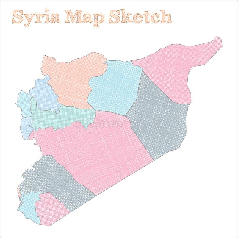 Syrii mapa ilustracji