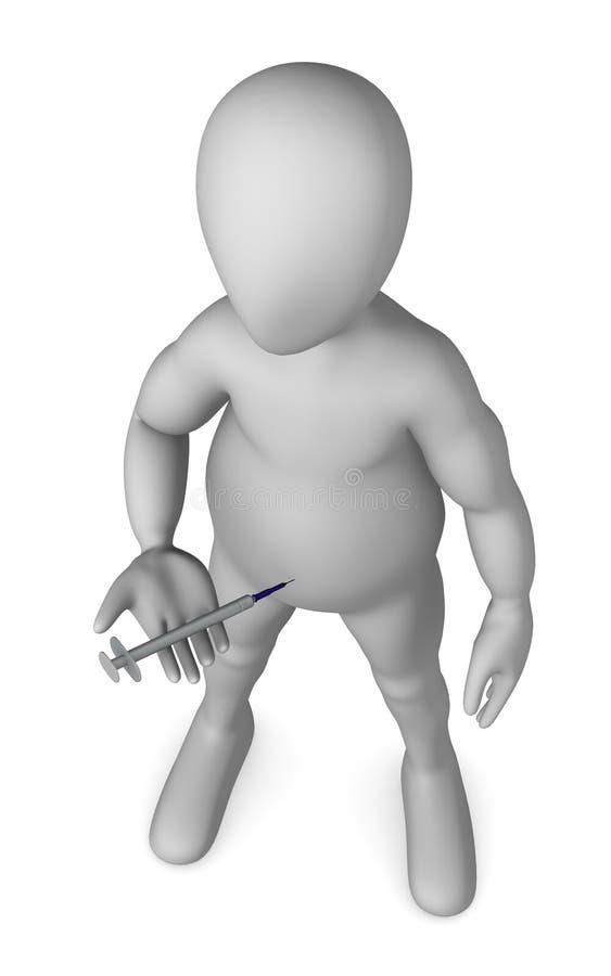 Download Syringe stock illustration. Image of hand, cute, human - 14856000