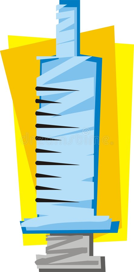 Download Syringe stock vector. Image of logo, medical, yellow, medicine - 2323335