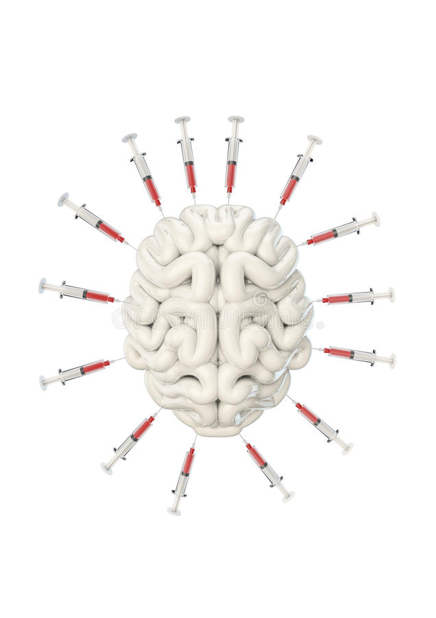 Download Syringe brain stock illustration. Illustration of brain - 33090235
