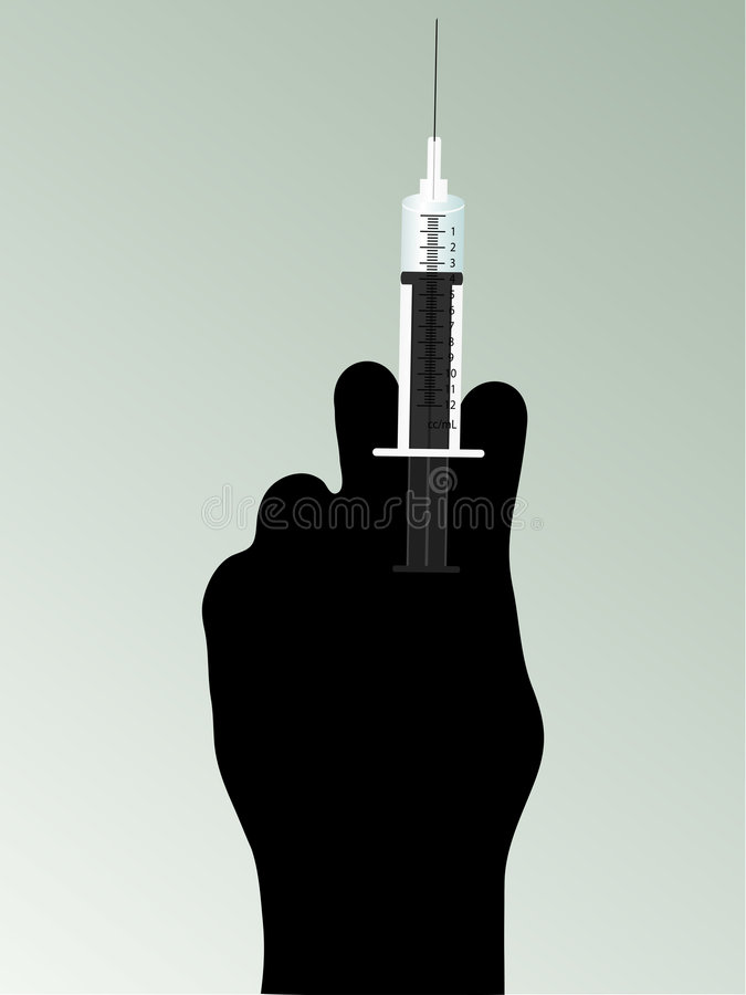 Free Syringe In Hand Royalty Free Stock Photos - 9299628