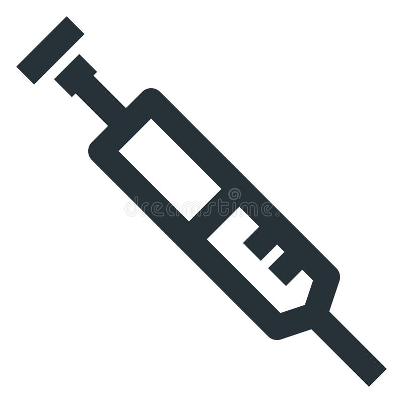 Syringe Vector Line Icon 32x32 Pixel Perfect. Editable 2 Pixel S. Troke Weight. Medical Health Icon for Website Mobile App Presentation stock illustration