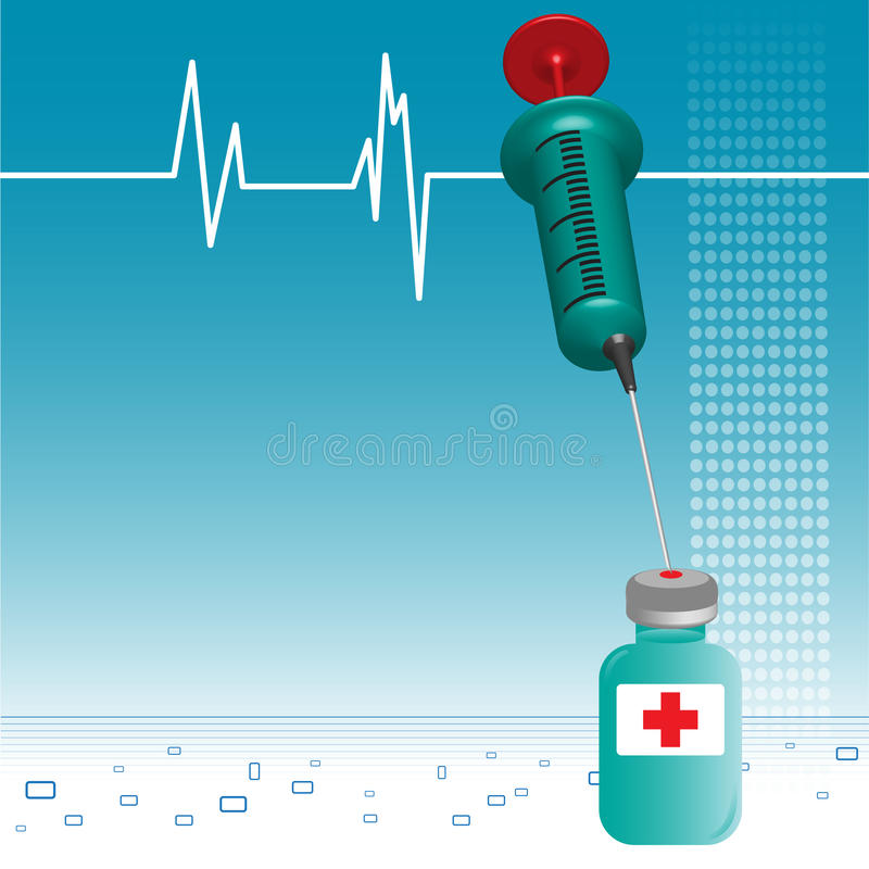 Syringe and vial royalty free stock photos