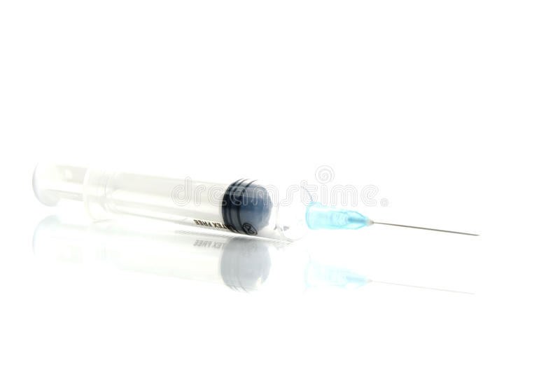 Syringe On White Royalty Free Stock Photos