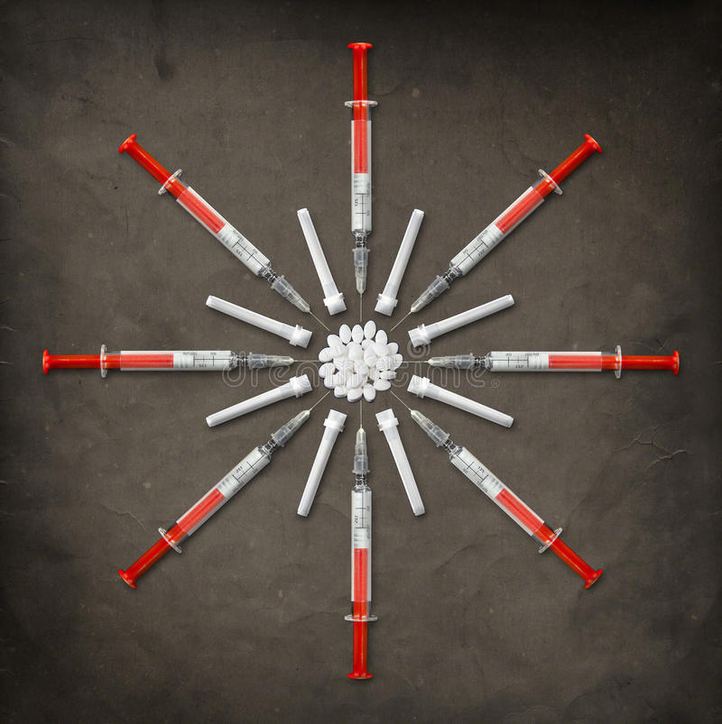 Download Syringes & Pills stock image. Image of needles, doctor - 23859053