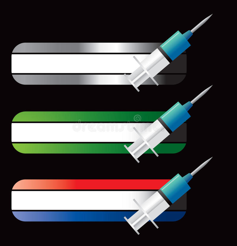 Download Syringes On Specialized Banners Stock Vector - Illustration of blue, donate: 11389098