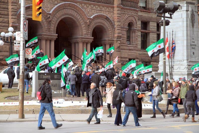 Syrische Anhänger in Toronto lizenzfreie stockfotos