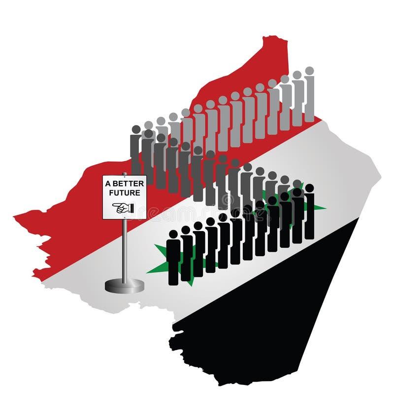 Syrische Migration lizenzfreie abbildung