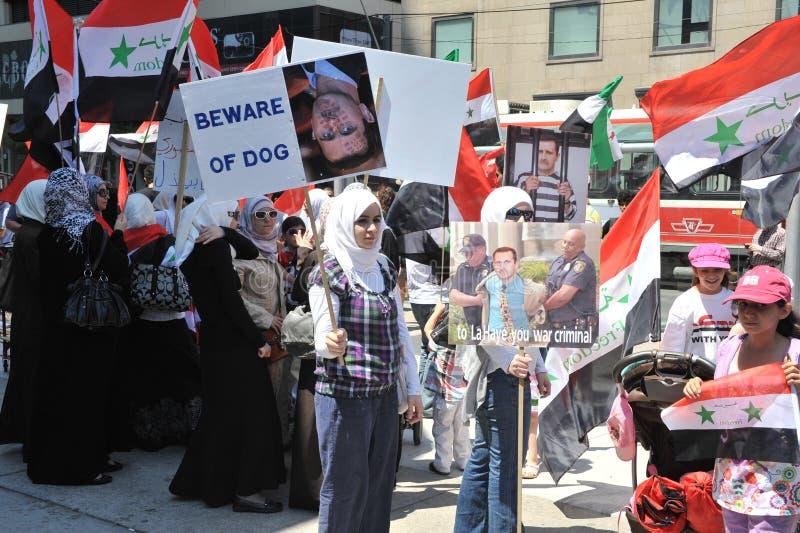 Syrische Sammlung für Freiheit in Toronto stockfoto