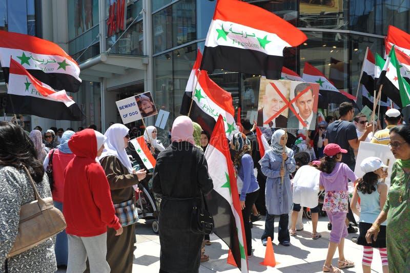 Syrische Verzameling voor Vrijheid in Toronto royalty-vrije stock foto's