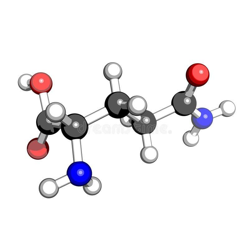 syrlig amino glutamine royaltyfri illustrationer