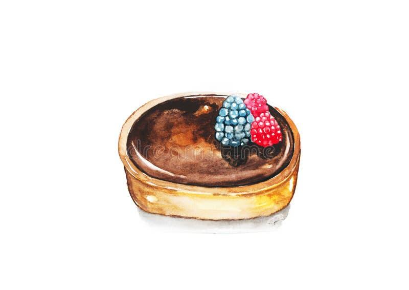 Syrlig choklad royaltyfri illustrationer