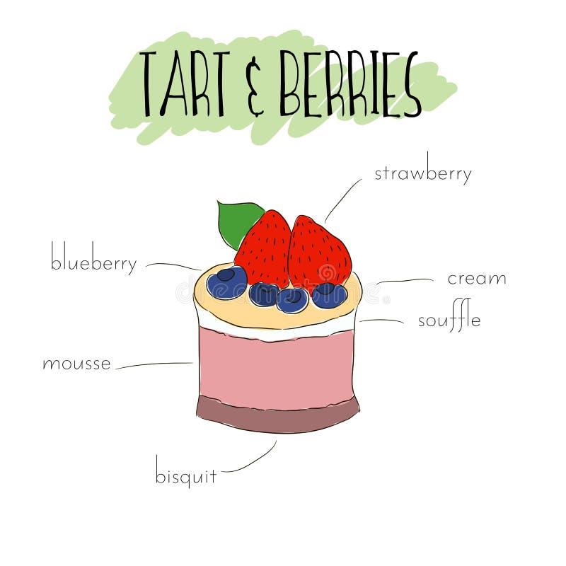 Syrlig frukt stock illustrationer