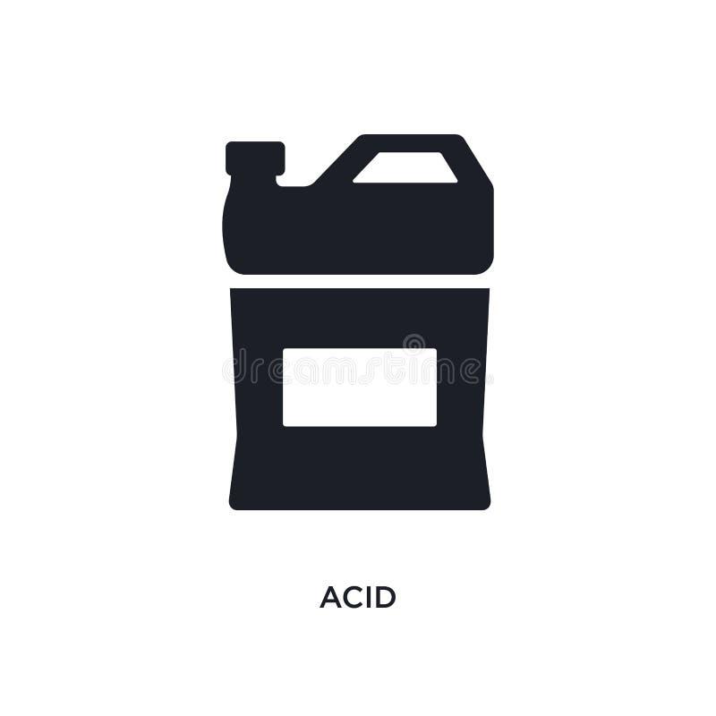 syrlig isolerad symbol enkel beståndsdelillustration från rengörande begreppssymboler syrlig redigerbar design för logoteckensymb royaltyfri illustrationer