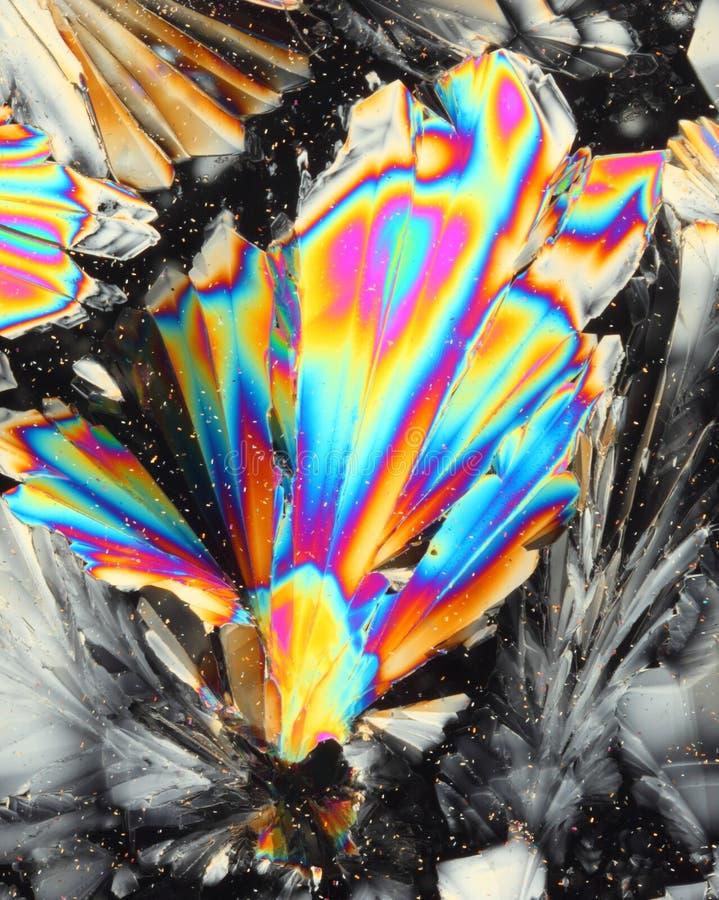 syrliga citric färgrika kristaller arkivfoton