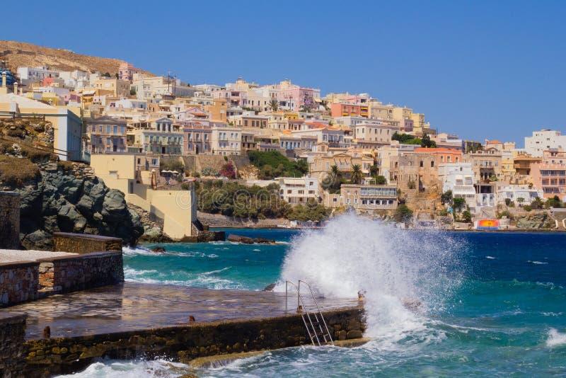 Syros海岛 库存照片