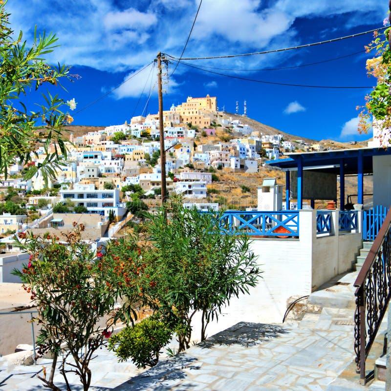 Syros,希腊 库存照片