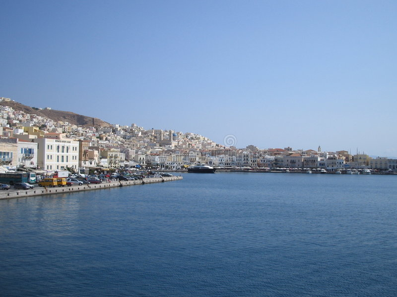 Syros, Grecia fotos de archivo
